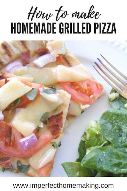 How to make homemade grilled pizza.  It's easier than you think!