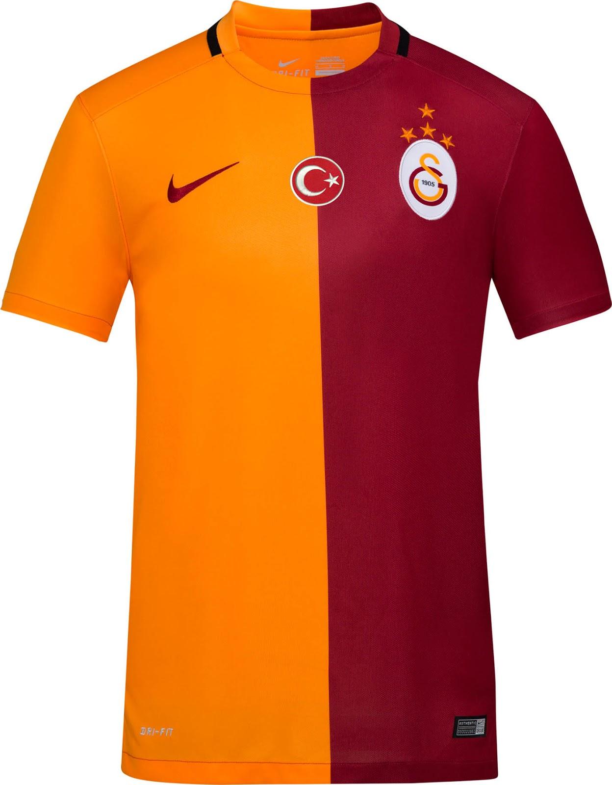 best service d8796 e5fdf Tukish League Galatasaray 15-16 Home, Away and Third Kits ...