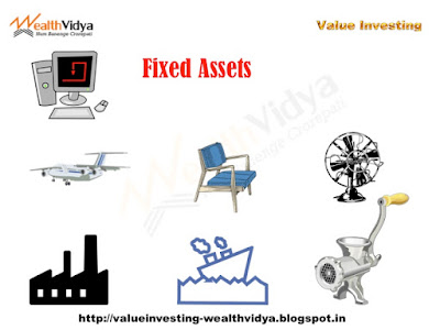 Picture showing various fixed assets as example