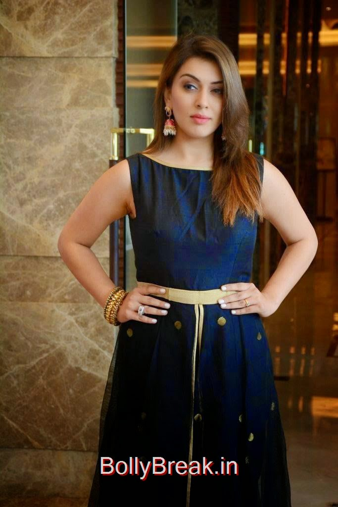 Hansika Stills, Hansika Latest Hot Pics In Black Dress from Emerald Flats Launch Event