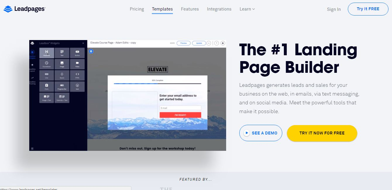 leadpages landing page, best landing page tool online