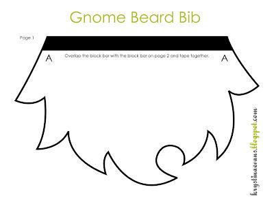 Bit-O-Me: Gnome Beard Bib {FREE Pattern}