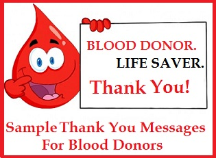 Appreciation Messages And Letters Blood Donors