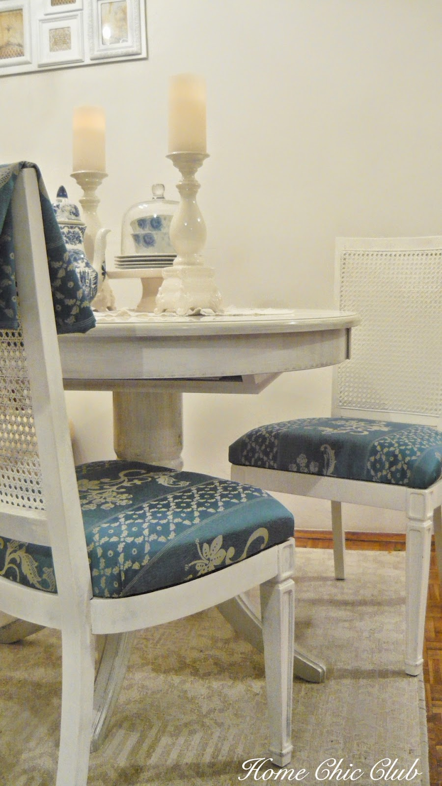 Reupholstering a dining room