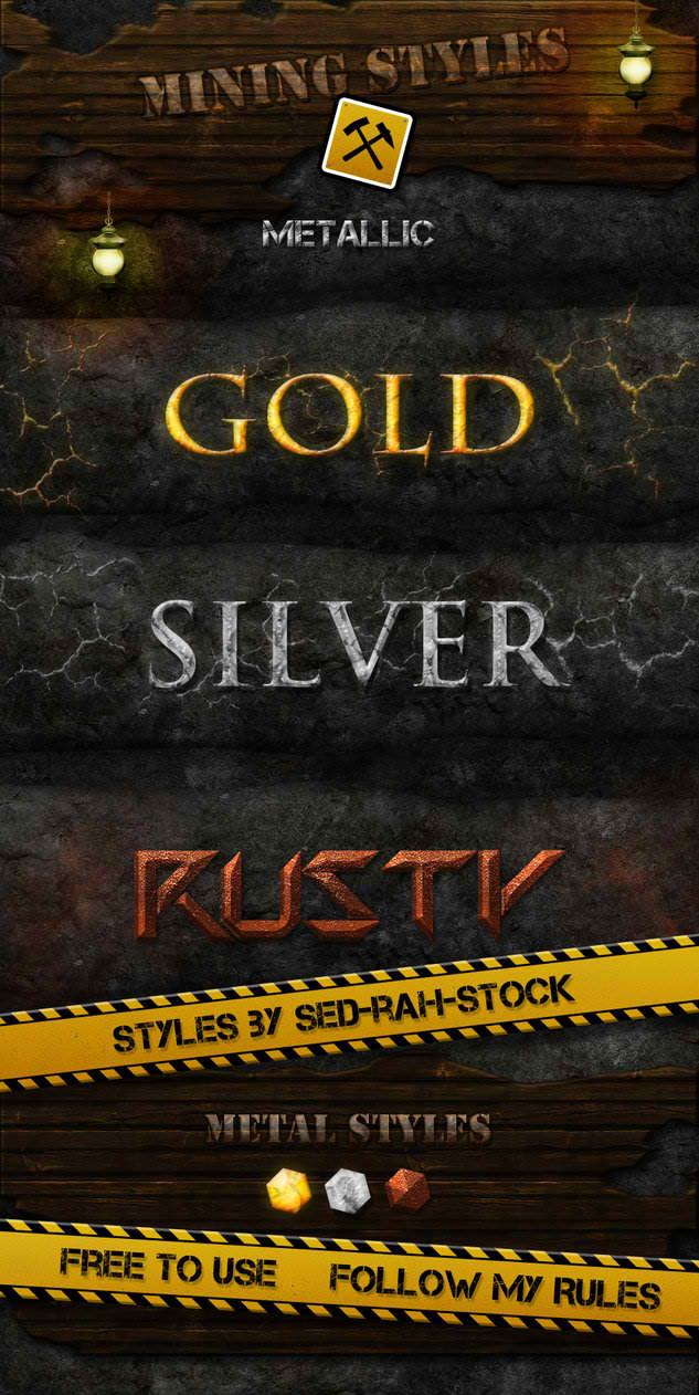 Mining Metallic Text Styles