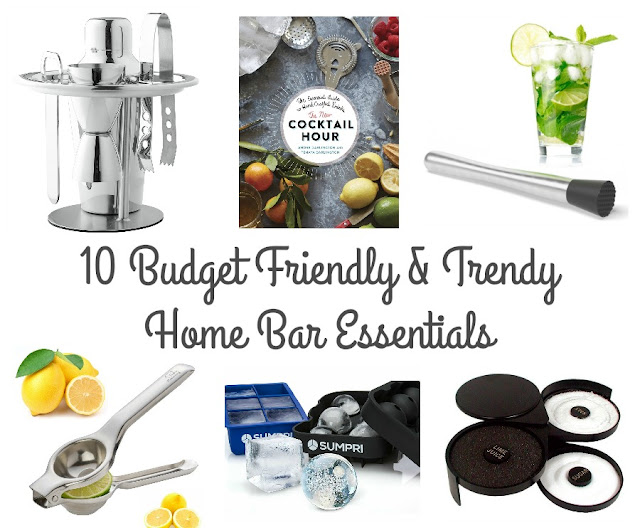 You can have a functional, yet stylish home bar without spending a fortune with these 10 Budget Friendly & Trendy Home Bar Essentials.