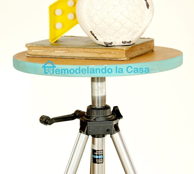 How to turn a tripod into a little side table
