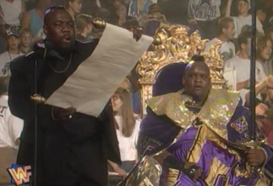 WWF / WWE - King of the Ring 1995 - Mo declares Mabel the new king