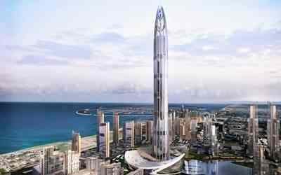 Gambar Nakhel Tower gedung paling tertinggi di dunia