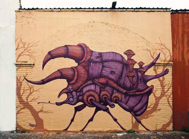 Street Art Mural By Sego For Board Dripper Urban Art Festival.