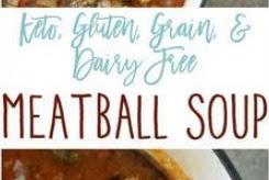 Meatball Soup {Keto, Paleo, Gluten, Grain, Dairy Free}