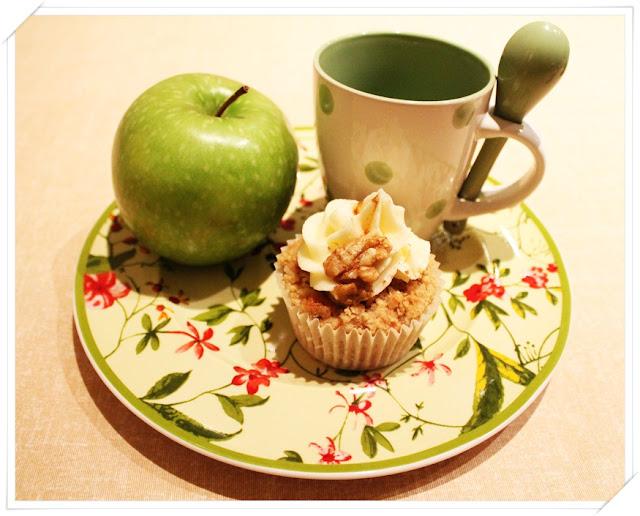 cupcakes de crumble manzana
