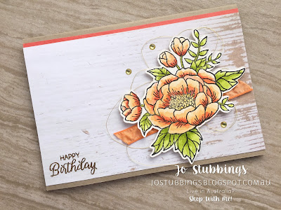Jo's Stamping Spot - Goodbye 2017 - More Birthday Blooms