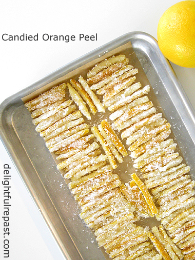 Candied Orange Peel / www.delightfulrepast.com