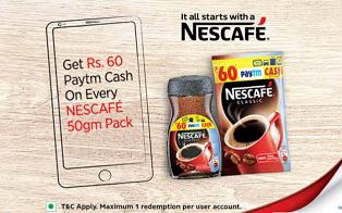 nescafe paytm offer