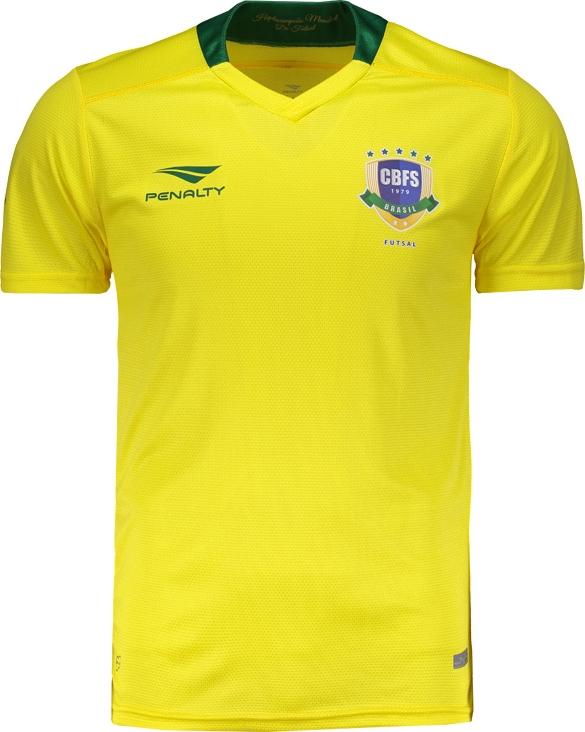 c10454ffe18d8 Penalty lança novas camisas da Seleção Brasileira de futsal - Show ...