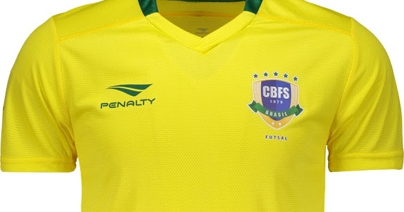 abc0d1be85 Penalty lança novas camisas da Seleção Brasileira de futsal - Show de  Camisas