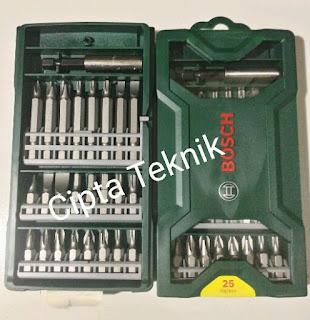 Bosch X line 25Pcs Mata obeng