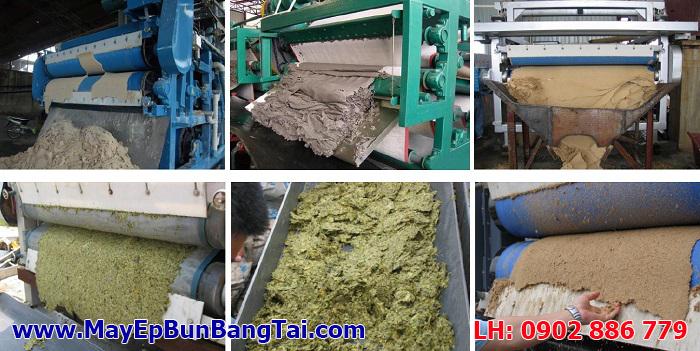 Máy ép bùn băng tải áp dụng cho nhiều ngành công nghiệp khác nhau, và đặc điểm của bùn thải khác nhau