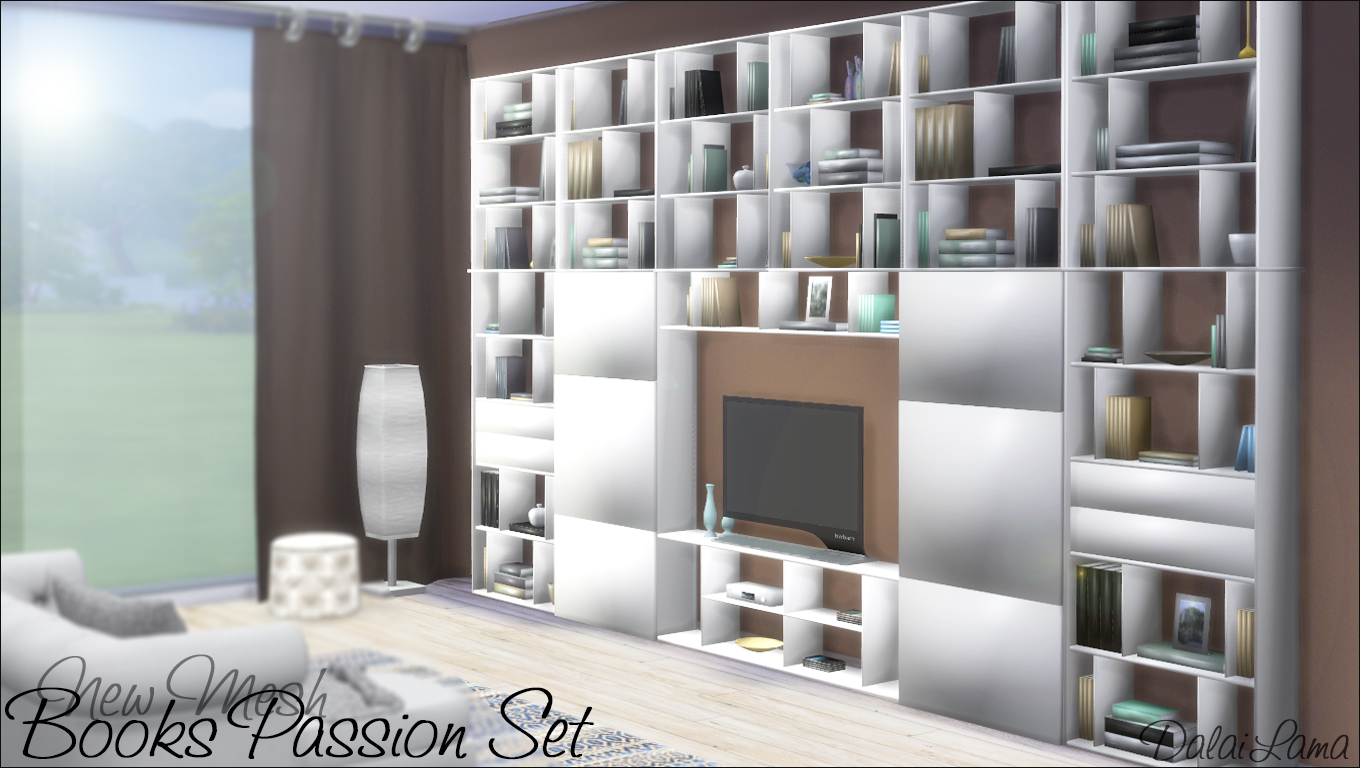 My Sims 4 Blog Books Passion Shelves And Tv Stand By
