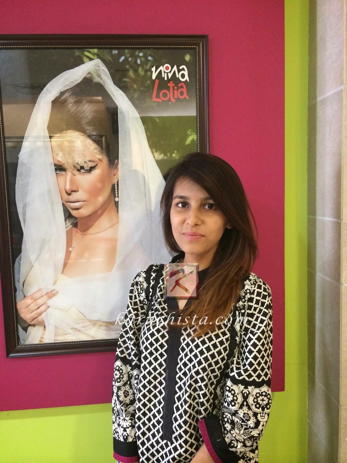 Laiba after her Kerastase treatment at Nina Lotia's salon