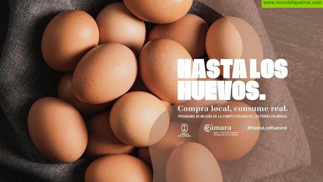 """""""Hasta los huevos"""": la nueva campaña publicitaria de la Cámara y el Cabildo para impulsar el comercio insular"""