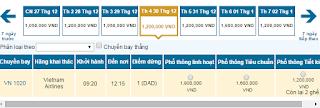 Giá vé máy bay Buôn Mê Thuột đi Vinh