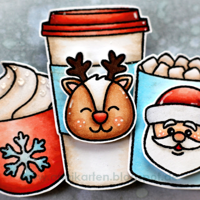 Sunny Studio Stamps: Christmas Icons & Mug Hugs Holiday Card by Anni Lerche.