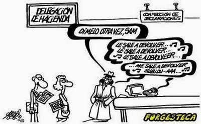 Viñeta humor Devolucion Hacienda por Forges