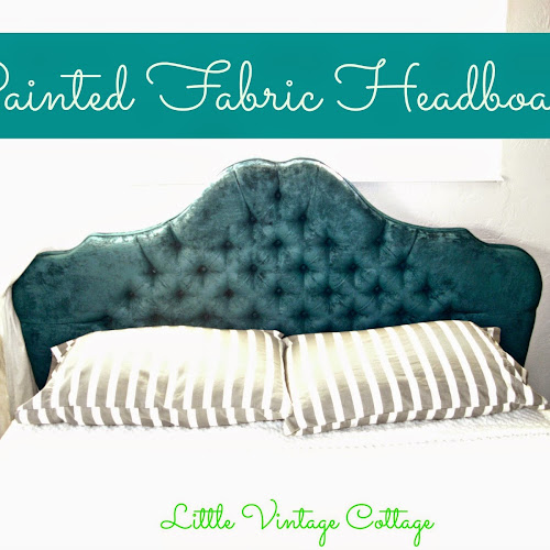 Master Bedroom Redo - Painted Fabric Headboard!