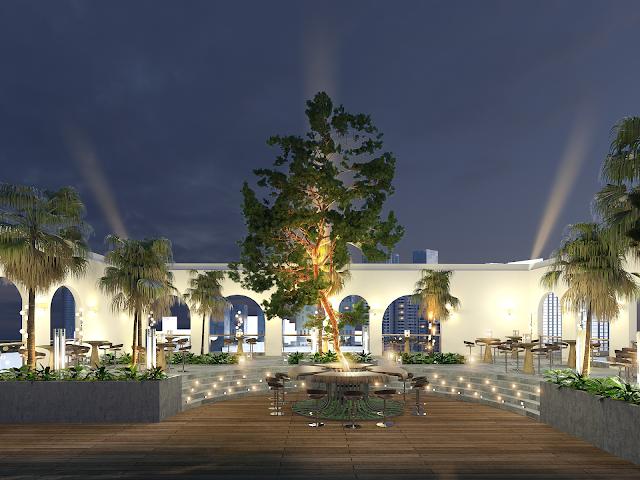 Sân vườn thượng uyển trên tầng thượng