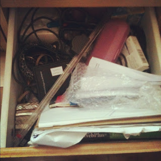 My messy drawers need sorting