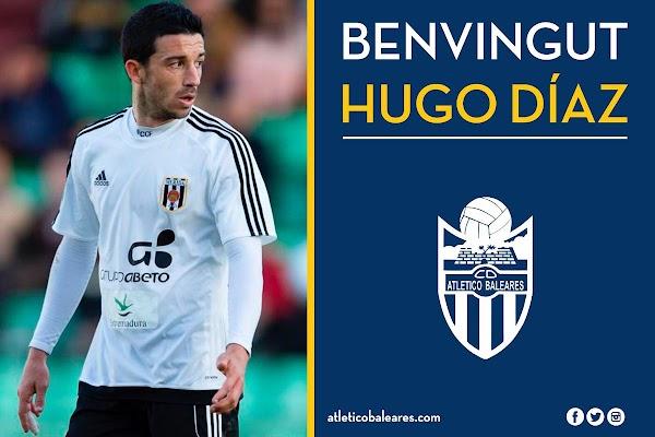 Oficial: El Atlético Baleares firma a Hugo Díaz