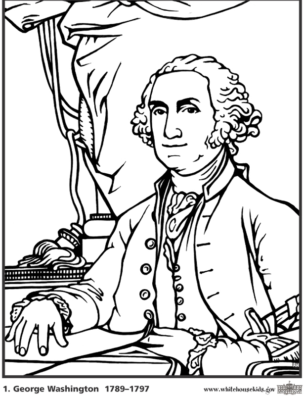 George Washington's Birthday - Coloring Pages