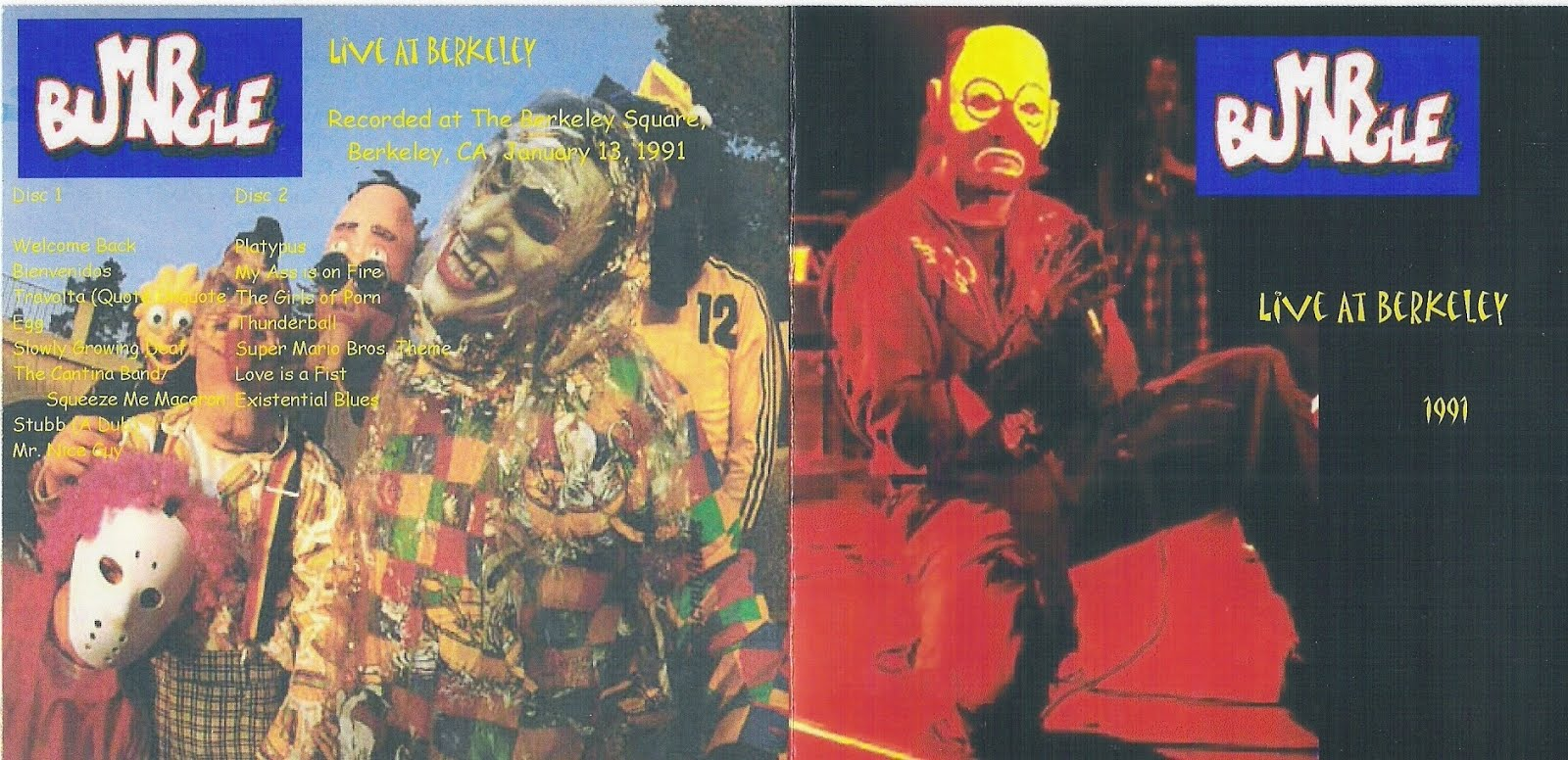 T U B E : Mr  Bungle - 1991-01-13 - Berkeley, CA (SBD/FLAC)
