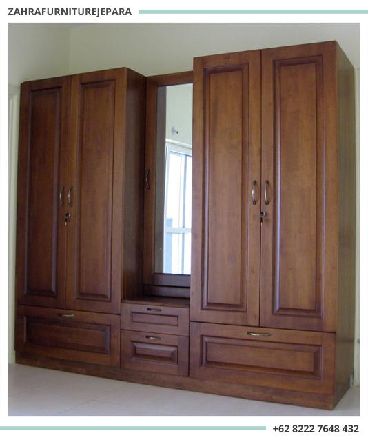 Lemari Pakaian Jati Minimalis Jepara Jual Furniture Murah