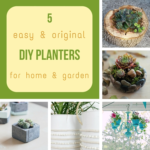 5 easy & original DIY planters for home & garden