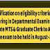 CGDA clarification on eligibility criteria for Graduate MTS & Graduate Clerk to Auditor Grade Departmental Examination