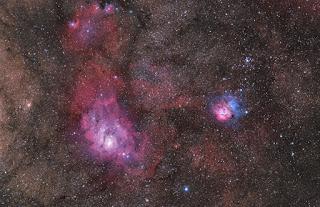 The Sagittarius Triplets: M8, M20, NGC 6559