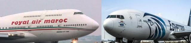 Le nouveau Codeshare entre la RAM et Egyptair …