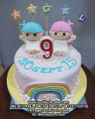 Kue Tart Fondant My Little Twins