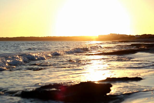 Formentera - platja de migjorn - posta de sol