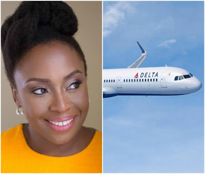 Chimamanda Adichie calls out Delta Airlines on how they treat their Nigerian customers