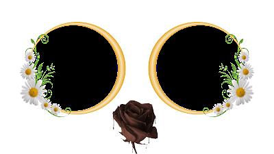 Moldura Páscoa 2016-2 fotos-Flores e Rosa de chocolate PNG