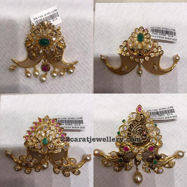 Tiger Nail Pendants from Kalyani Jewellers