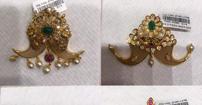 Tiger Nail Pendants From Kalyani Jewellers Jewellery Designs