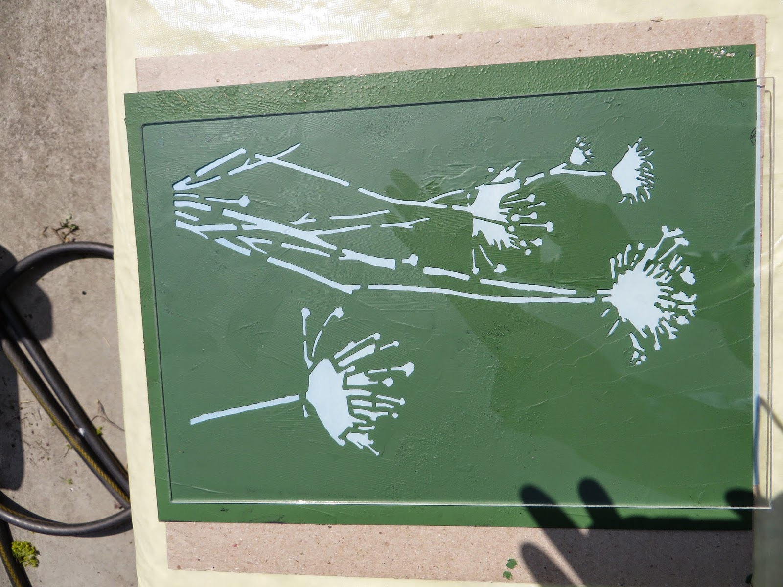 Art Using Sunlight And Stencils To Make Sun Prints