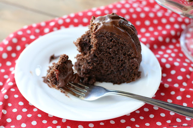 Easy recipe Cherry Chocolate Cake from Served Up With Love