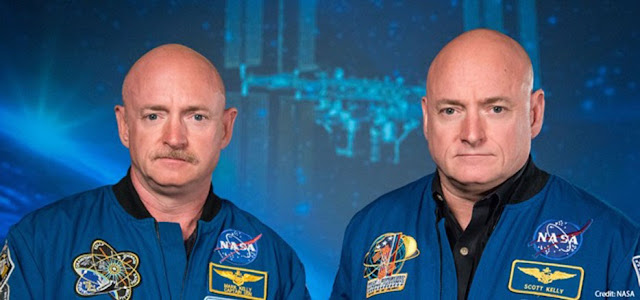 Scott Kelly e seu irmão Mark Kelly