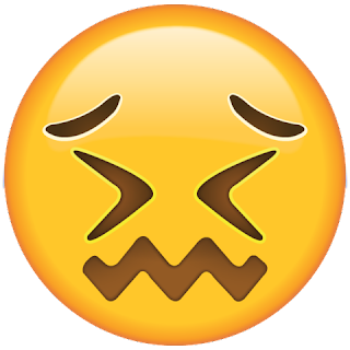 WhatsApp Confounded Face Emoji